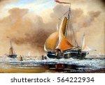 ships  fisherman  sea  oil... | Shutterstock . vector #564222934