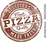 delicious pizza vintage stamp | Shutterstock .eps vector #564224260