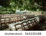 many empty chairs waiting as... | Shutterstock . vector #564230188
