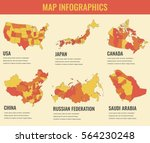 country maps infographic... | Shutterstock .eps vector #564230248