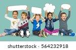 children smiling happiness...   Shutterstock . vector #564232918
