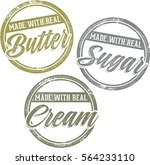 made with real cream sugar and... | Shutterstock .eps vector #564233110