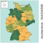 germany map with selectable... | Shutterstock .eps vector #564234508