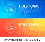 horisontal polygonal banners | Shutterstock .eps vector #564234760