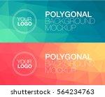 horisontal polygonal banners | Shutterstock .eps vector #564234763