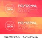horisontal polygonal banners | Shutterstock .eps vector #564234766