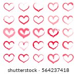 Grunge Heart Set. Collection O...