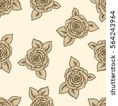 vintage vector seamless pattern ... | Shutterstock .eps vector #564243964