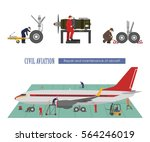 repair and maintenance of... | Shutterstock .eps vector #564246019