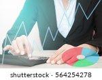 closeup of a businesswoman... | Shutterstock . vector #564254278