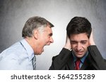 angry businessman shouting to... | Shutterstock . vector #564255289