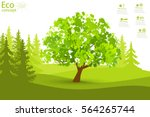 eco friendly. the tree on the... | Shutterstock .eps vector #564265744
