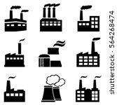 industrial buildings  factories ... | Shutterstock .eps vector #564268474