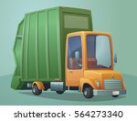 garbage collection service.... | Shutterstock .eps vector #564273340