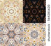 set of gorgeous seamless...   Shutterstock .eps vector #564281620