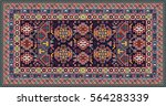 colorful oriental mosaic rug...   Shutterstock . vector #564283339