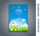 summer happy template | Shutterstock .eps vector #564288568