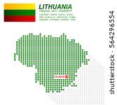 dot style of lithuania map and... | Shutterstock .eps vector #564296554