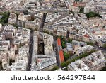 elevated view of the buildings... | Shutterstock . vector #564297844
