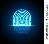 vector fingerprint loop icon... | Shutterstock .eps vector #564308668