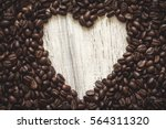 Coffee Beans With Heart Shape