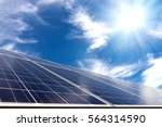 solar cell panel with strong... | Shutterstock . vector #564314590