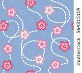 seamless pattern background... | Shutterstock . vector #564315109