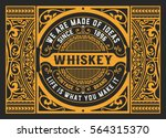 art deco whiskey card | Shutterstock .eps vector #564315370
