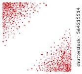 triangle corner red frame or... | Shutterstock .eps vector #564315514