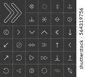thin line arrow icon set for... | Shutterstock .eps vector #564319756