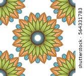 mandala vector floral color...   Shutterstock .eps vector #564331783