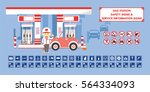 gas station   set of safety... | Shutterstock .eps vector #564334093