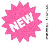 new sticker grainy textured... | Shutterstock .eps vector #564340528