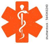 medical emblem grainy textured... | Shutterstock .eps vector #564343240