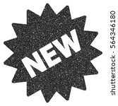 new sticker grainy textured... | Shutterstock .eps vector #564346180
