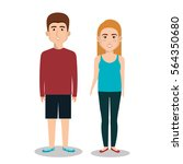 persons group avatars characters | Shutterstock .eps vector #564350680