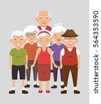 grandparents group avatars... | Shutterstock .eps vector #564353590