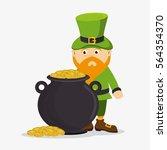 happy saint patricks day card | Shutterstock .eps vector #564354370