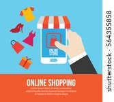 online shopping illustration | Shutterstock .eps vector #564355858