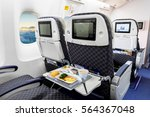 economy class airline meal | Shutterstock . vector #564367048