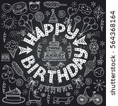poster for the birthday... | Shutterstock .eps vector #564368164