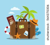 composition with a suitcase and ...   Shutterstock .eps vector #564370306