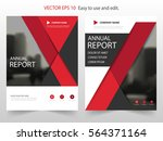 red triangle annual report... | Shutterstock .eps vector #564371164