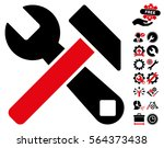 hammer and wrench pictograph...