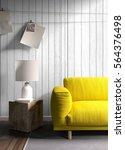 modern bright interior . 3d...   Shutterstock . vector #564376498