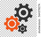 orange and gray gear mechanism... | Shutterstock .eps vector #564378274