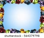 Gems Stone Frame Background...