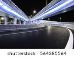 empty road floor with city... | Shutterstock . vector #564385564