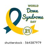 world down syndrome day emblem... | Shutterstock .eps vector #564387979