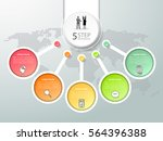 design template infographic 5... | Shutterstock .eps vector #564396388